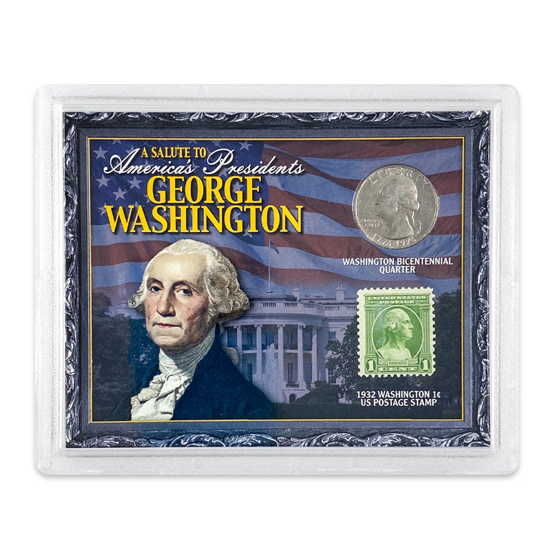 George Washington Coin and Stamp Set