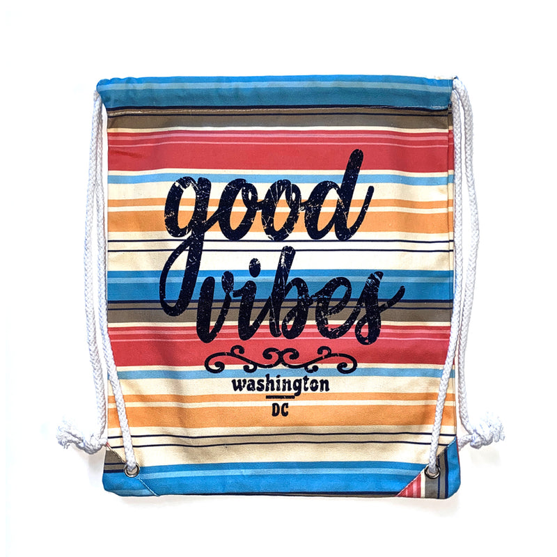 Summer Time Good Vibes Pull String Bag