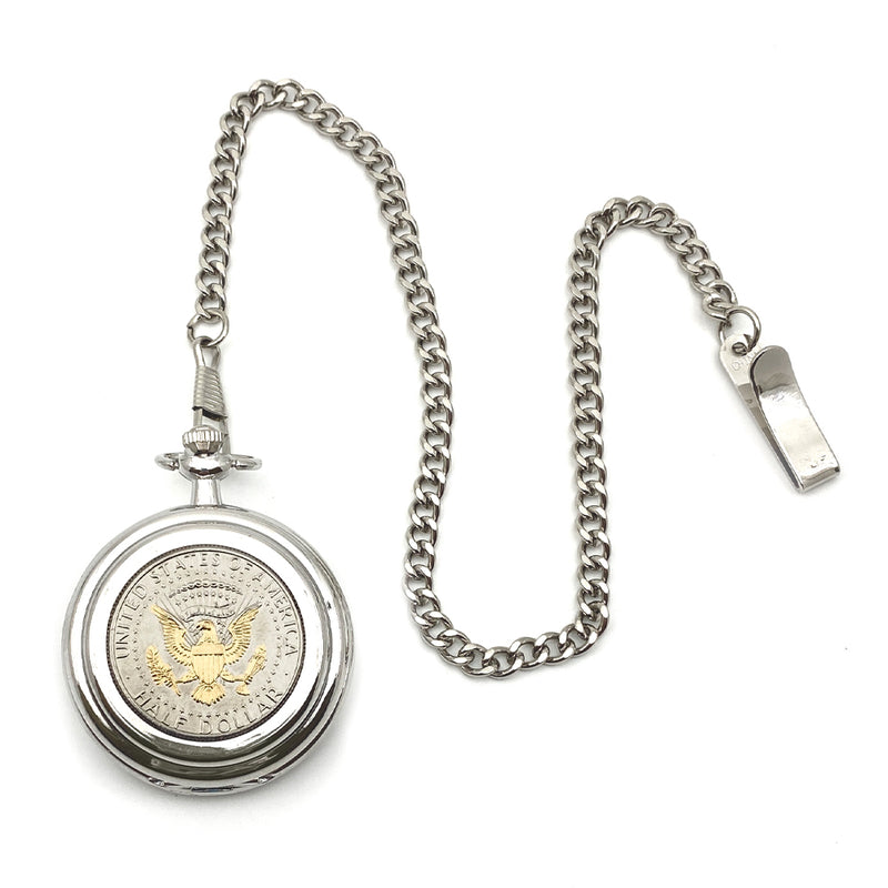 Pocket Watch Presidential Seal JFK Half Dollar