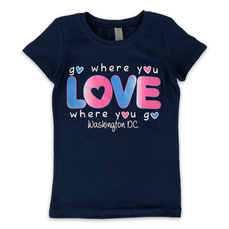 Love Where you go kid's T-shirt