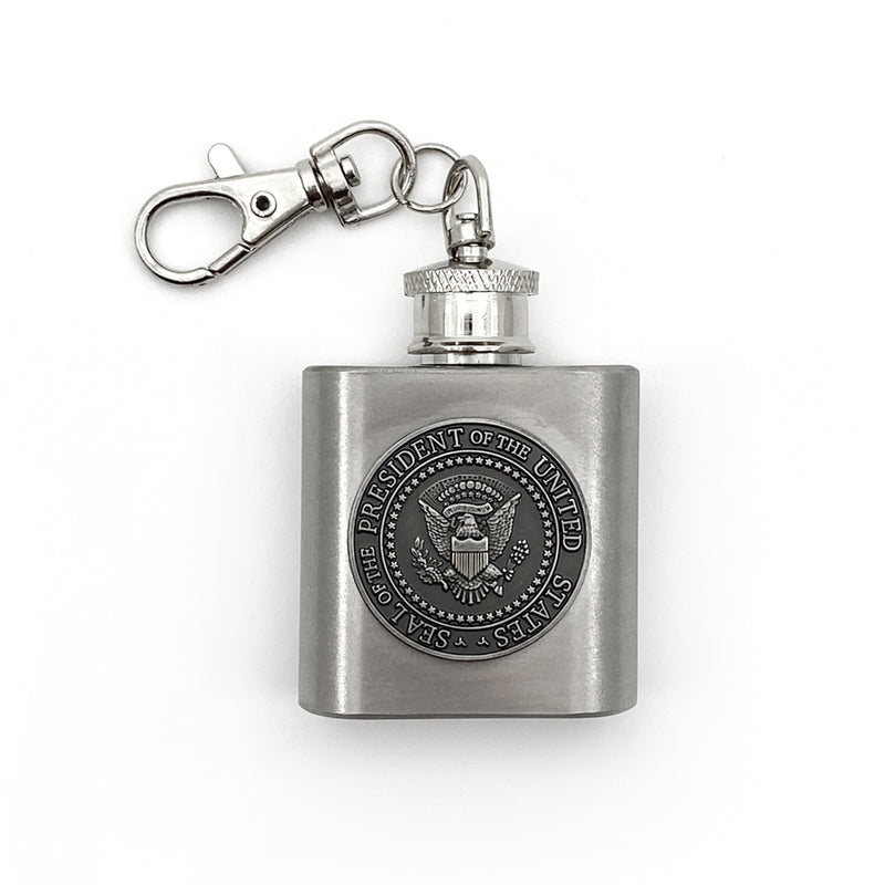 1 Oz Stainless Steel Mini Pres Seal Flask