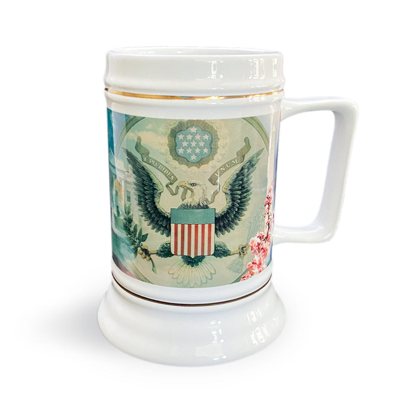 White House-Great Seal- Flag Stein
