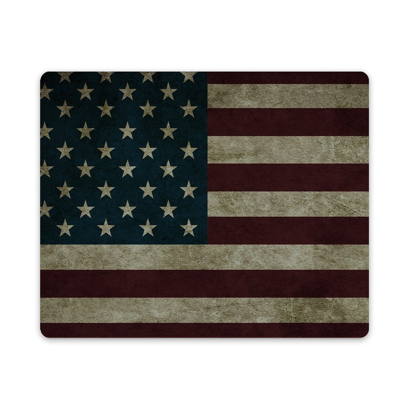 Rustic Flag Mouse Pad