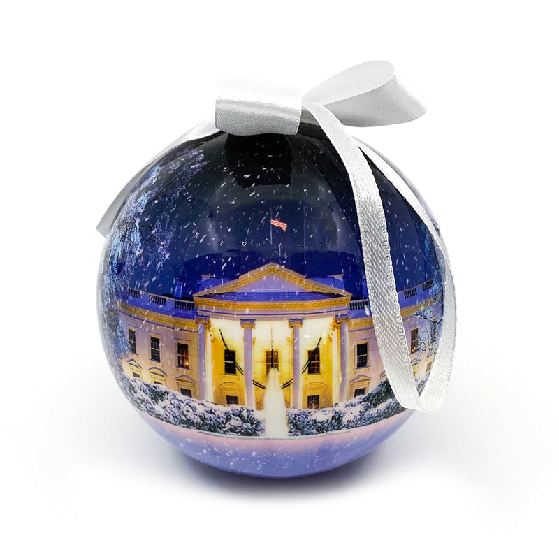 Winter White House Ornament Ball