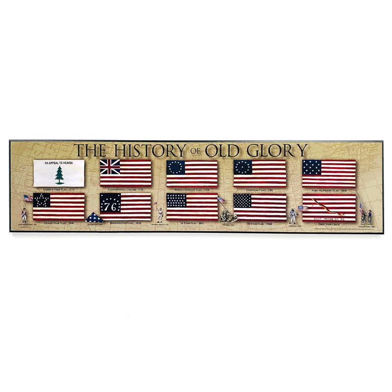 History of Old Glory Plaque