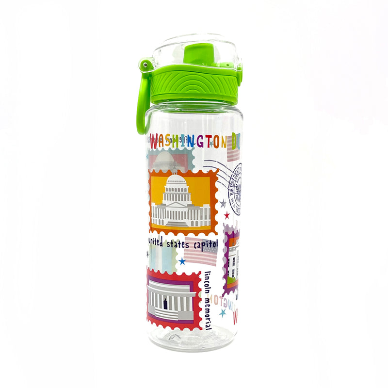 DC Stamp Logo Water Bottle