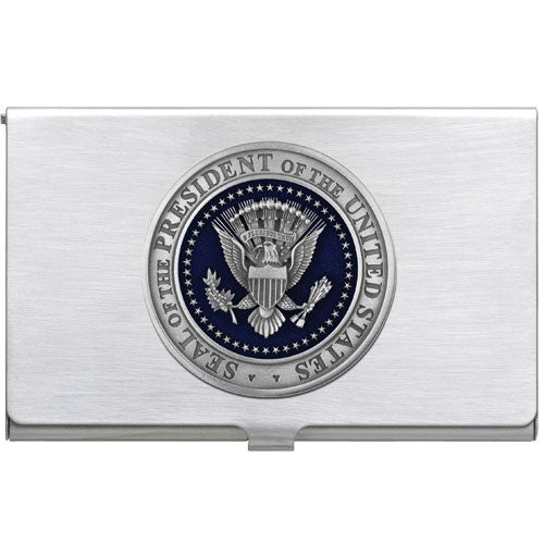 presidential seal business card case