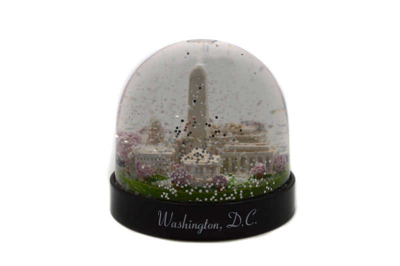 Snow Globe Cherry Blossom With Washington Monument