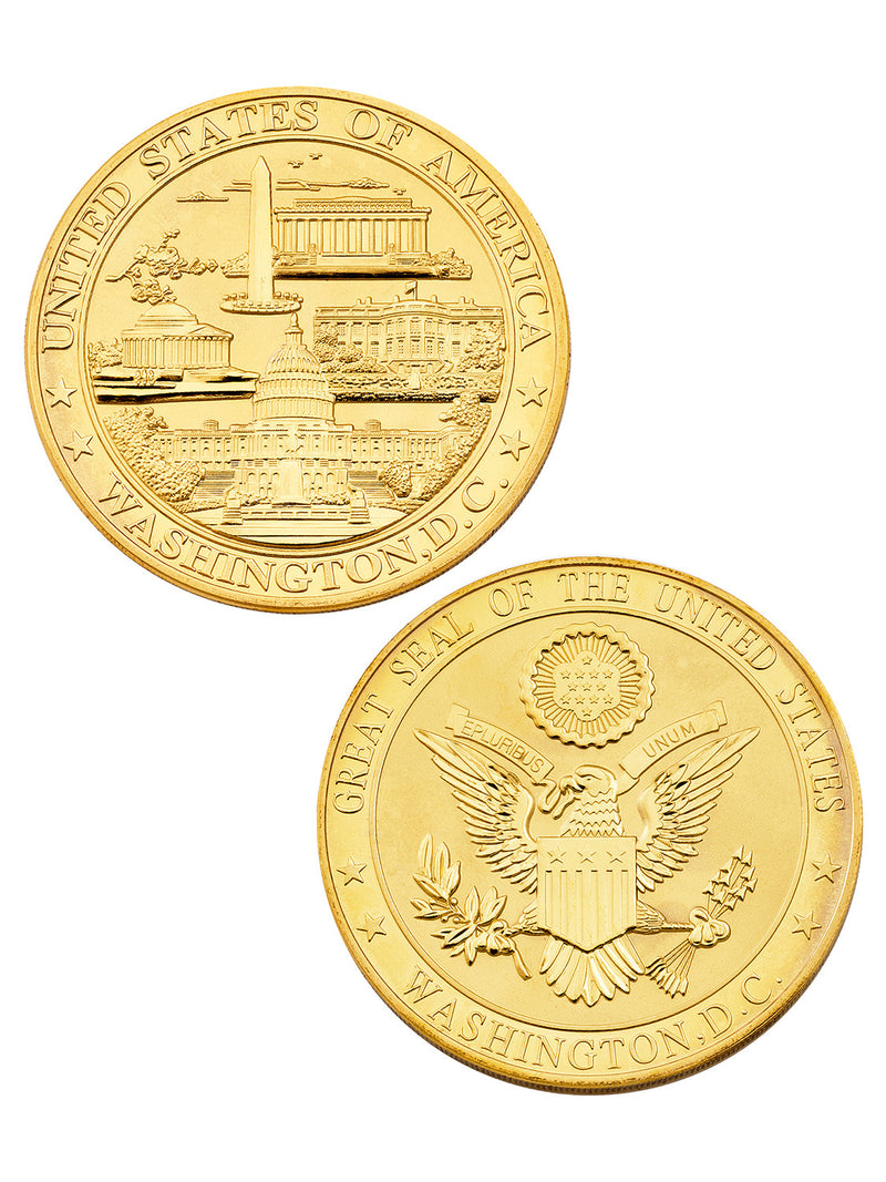 Large Gold Panorama Souvenir Coin