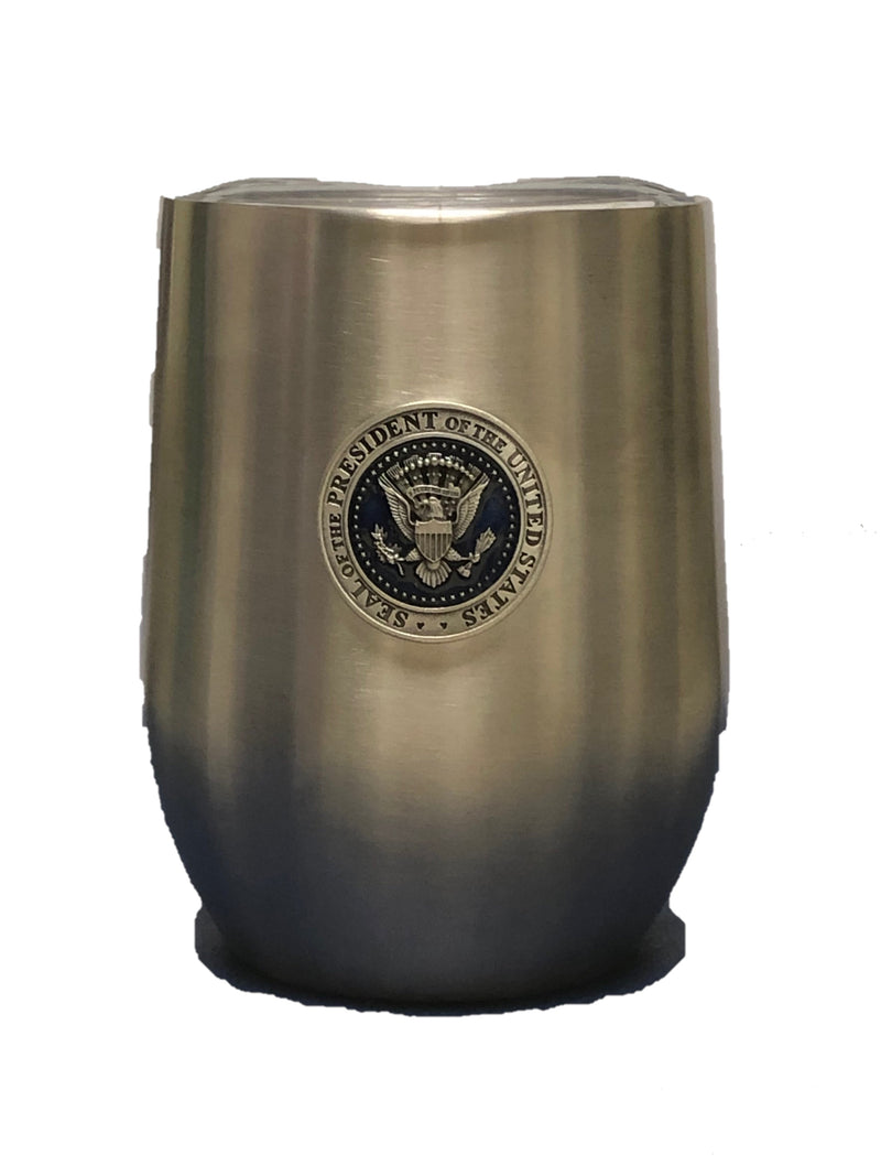 Pewter Presidential Seal Wine Tumbler