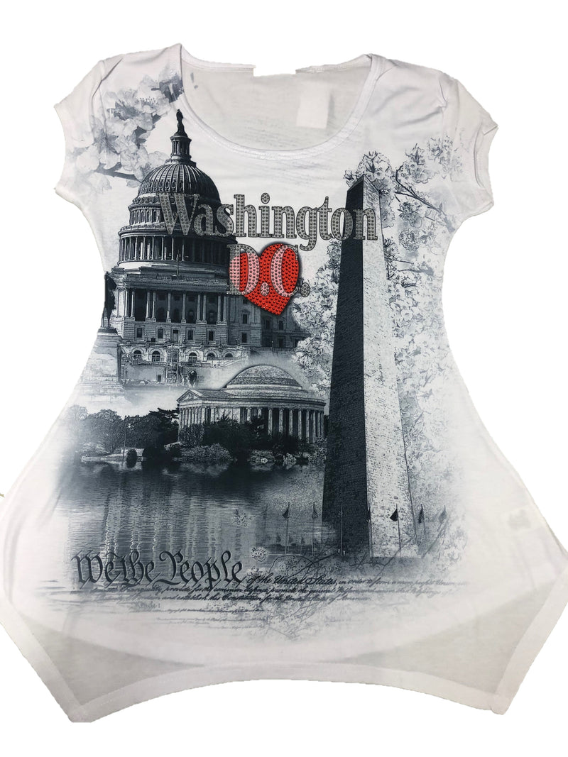 Ladies Washington DC T Shirt