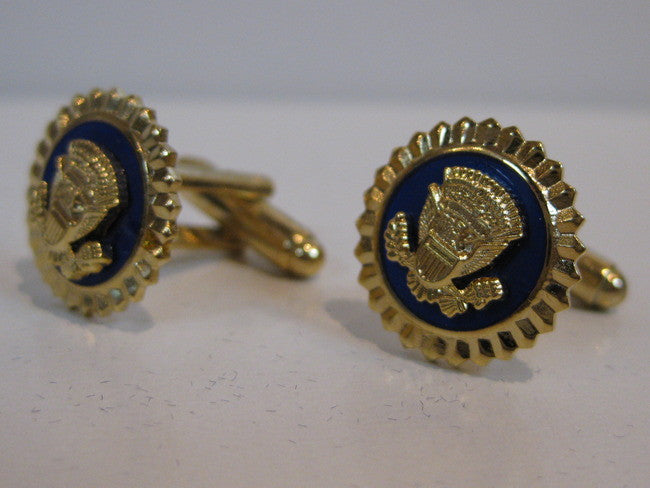Presidential Seal Cobalt Blue Cufflinks