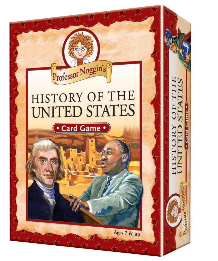 History Of The United States Card Topics Game