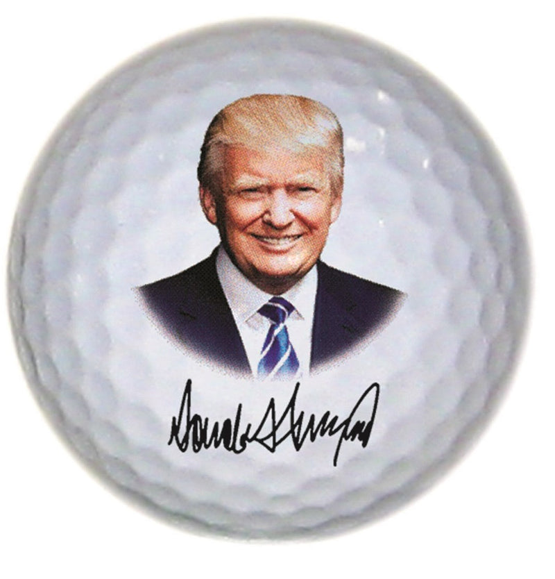 Trump Photo With Signature Golf Ball