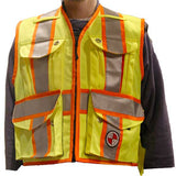 "PC15X ""XBack"" Party Chief Survey Vest, HEAVY DUTY, Available in: Safety Orange, Power Yellow, Lime Green"