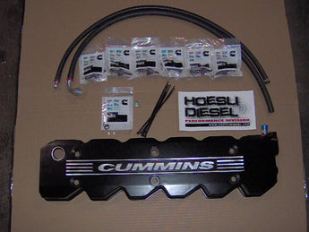 Hoesli Diesel Valve Cover Kit, 2003-2005 Cummins/Dodge (Flat Black)