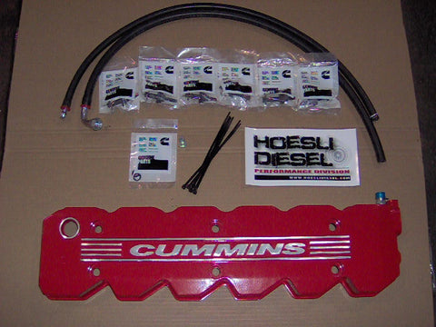 Hoesli Diesel Valve Cover Kit, 2003-2005 Cummins/Dodge (Red)