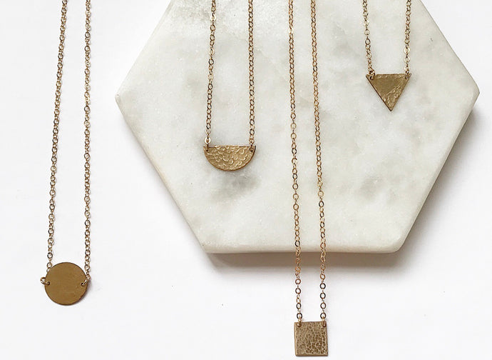 Dainty Hammered Collection