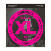D'Addario ECB81 Chromes Bass, Light, 45-100, Long Scale - Tarpley Music Company, Inc.