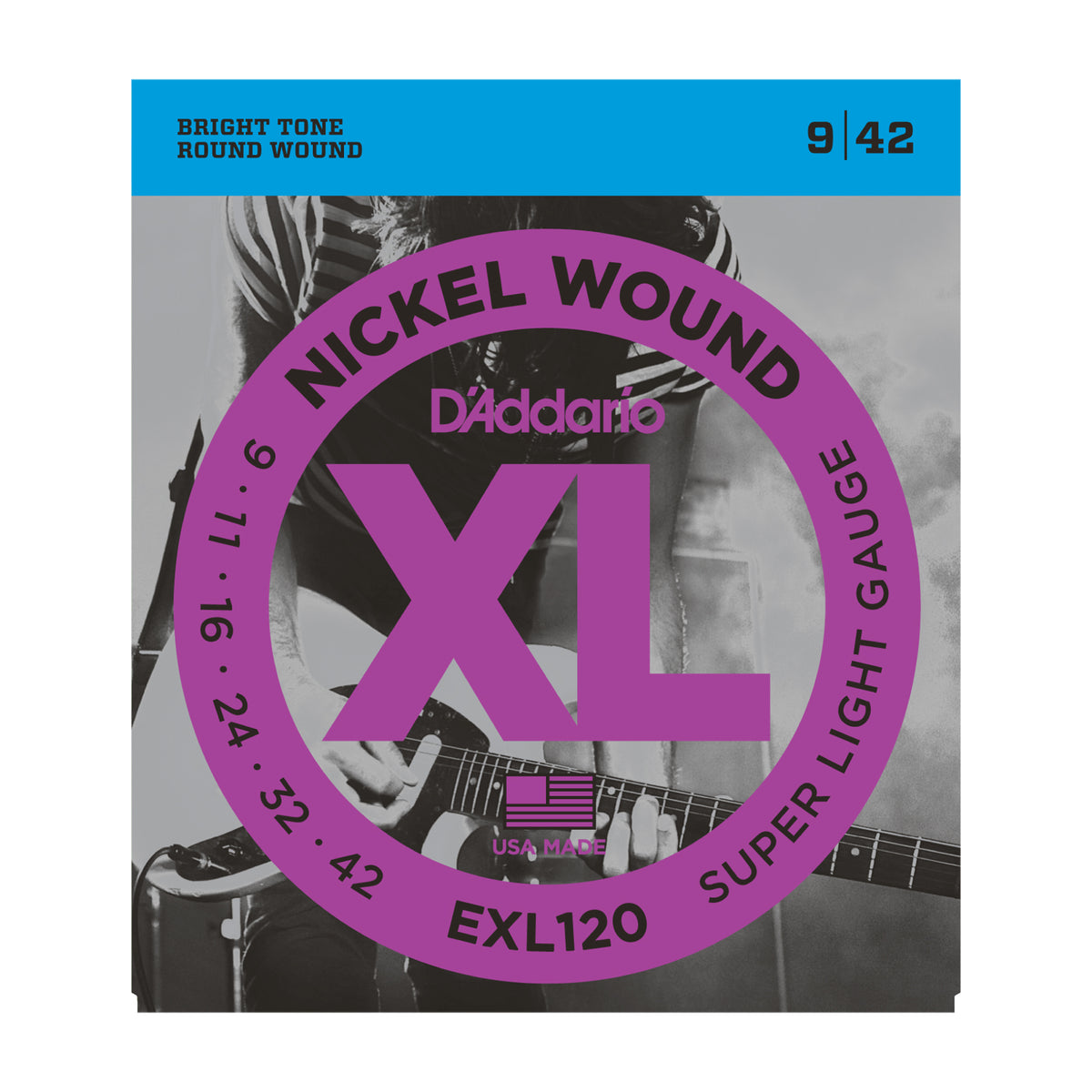 D'Addario EXL120 Nickel Wound, Super Light, 9-42 - Tarpley Music Company, Inc.