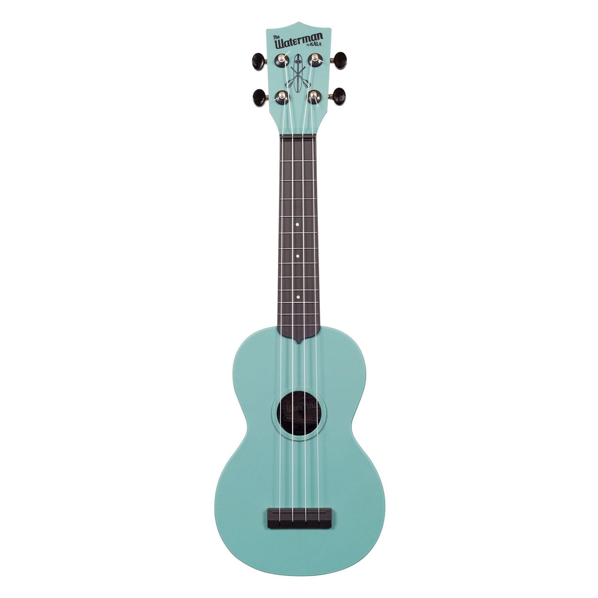 Kala KA-SWG-BL Glow-In-The-Dark Aqua Matte Soprano Waterman Ukulele