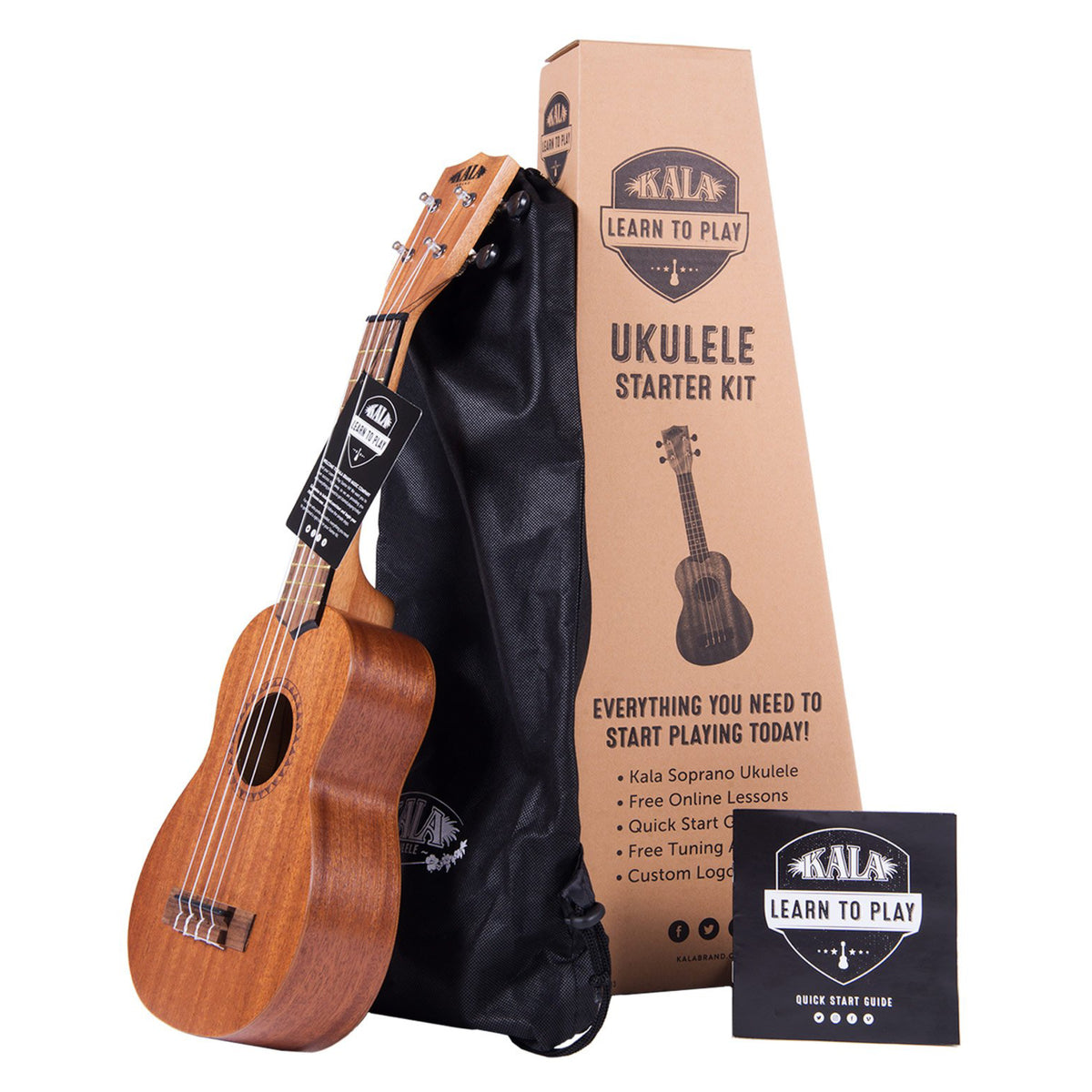 Kala Learn to Play Ukulele Starter Kit - KALA-LTP-S