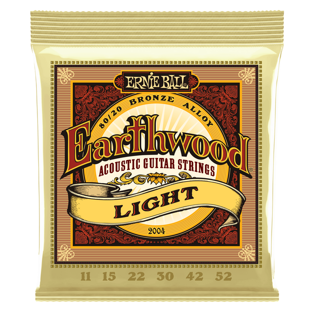 Ernie Ball Earthwood Light 80/20 Bronze Acoustic Guitar Strings - 11-52 Gauge - Tarpley Music Company, Inc.