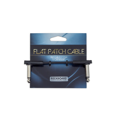 RockBoard Flat Patch Cable - 5cm - Black