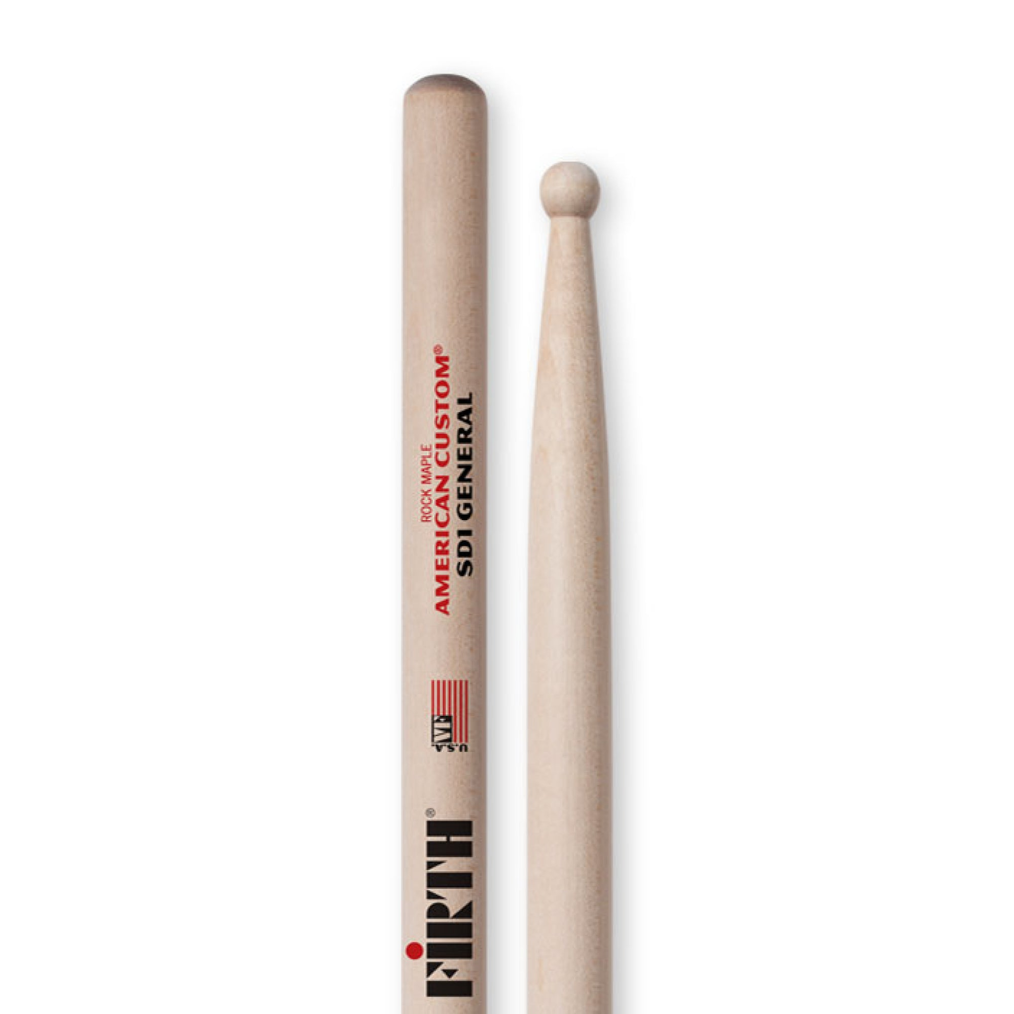 Vic Firth American Custom SD1 General Drum Sticks - Wood Tip