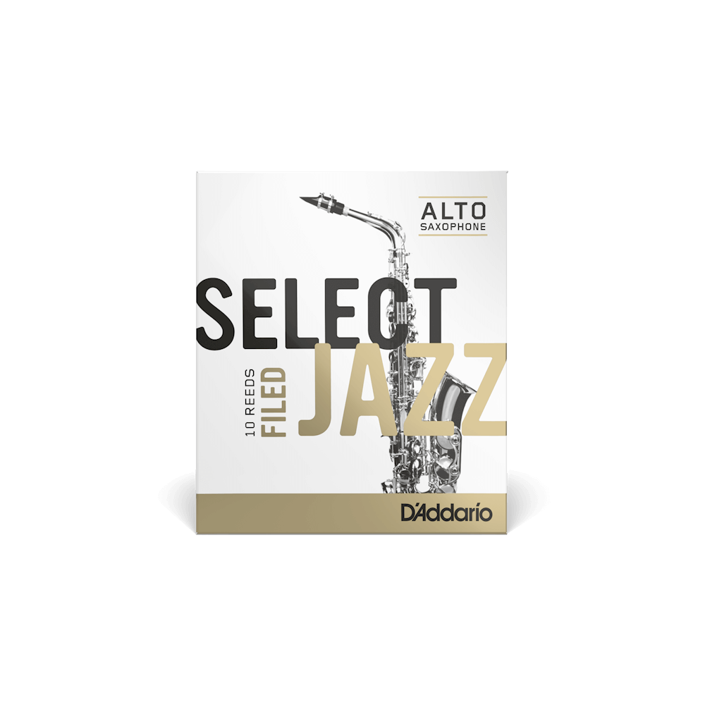 Daddario Reed Jazz Select Alto Sax 3 Soft Filed - RSF10ASX3S