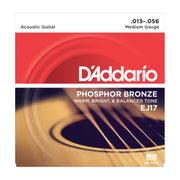 D'Addario EJ17 Phosphor Bronze, Medium, 13-56 - Tarpley Music Company, Inc.