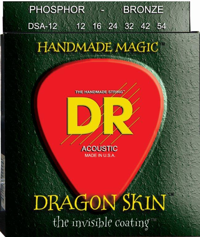 DR Strings Stg Ac Coated K3 Dragon Skin - DSA12