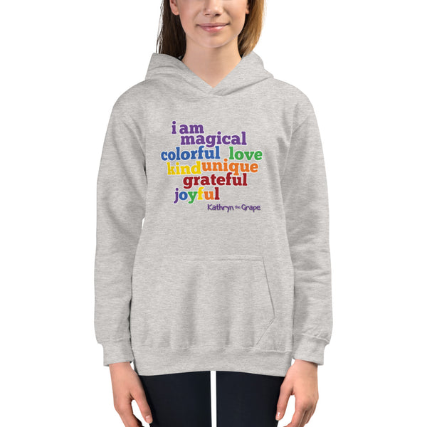 Kathryn the Grape® Affirmations (light) Youth Hoodie