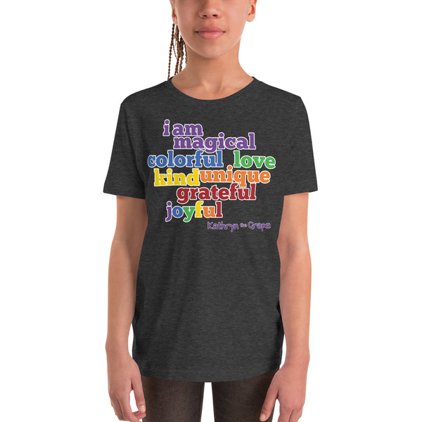 Kathryn the Grape® Affirmations (dark) T-Shirt for Kids