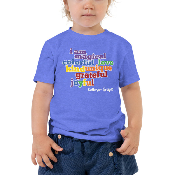 Kathryn the Grape® Affirmations Toddler Short Sleeve Tee