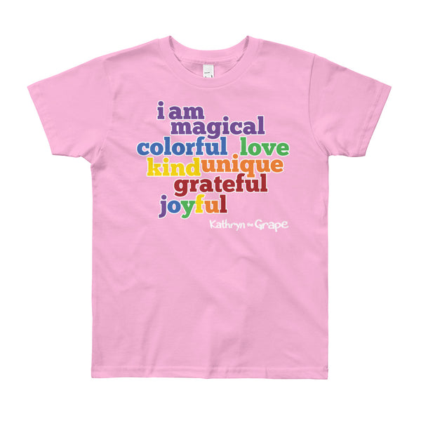 Kathryn the Grape® Affirmations Youth (8-12 years) T-Shirt