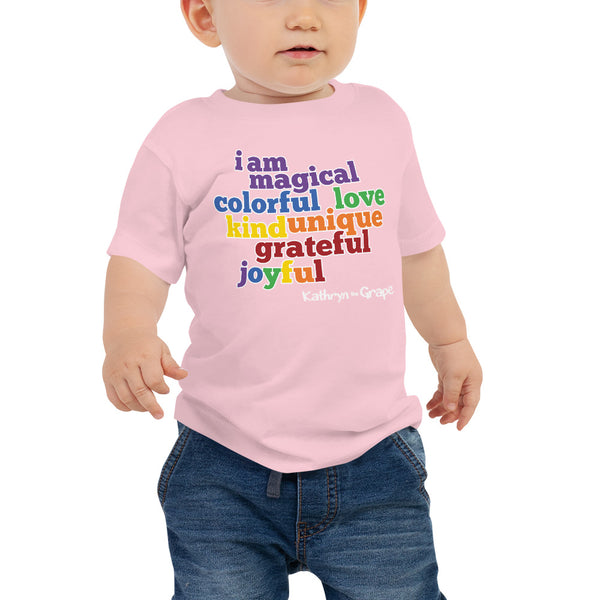 Kathryn the Grape® Affirmations Baby Jersey Short Sleeve Tee