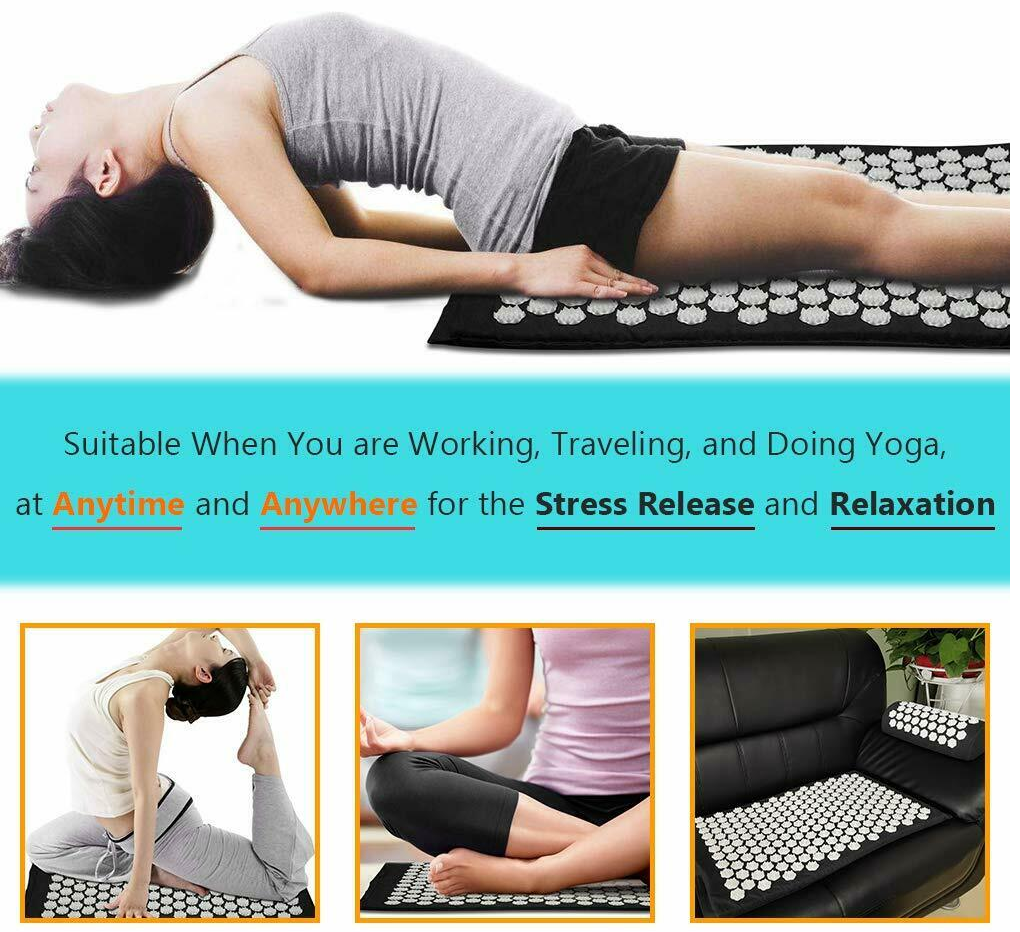 Acupressure Body Mat Give yourself a therapy session at home padded mat yoga wellness well-being travel therapy theraputic stretch stresses stress strains sensual sensory relieving relaxing relax pressure pilates peace mat massage legs house Home hip health enhance effect de-stress body back