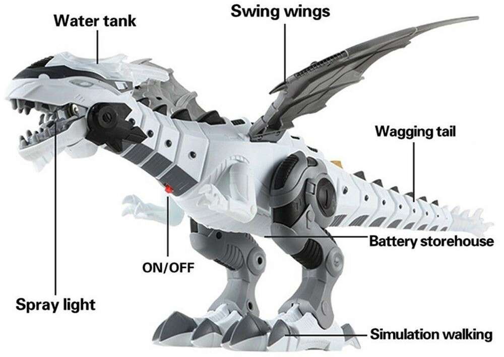 vapour breathing dinosaur, Red light makes the vapour look like fire, Dinosaur also roars and has glowing green eyes Kid toys toy remotes Remote kids girls gift fun Firebreathing fire effect's Effect dragon's dragon Dinosaur's Dinosaur Controlled control Children child breathing breathe breath boys boy