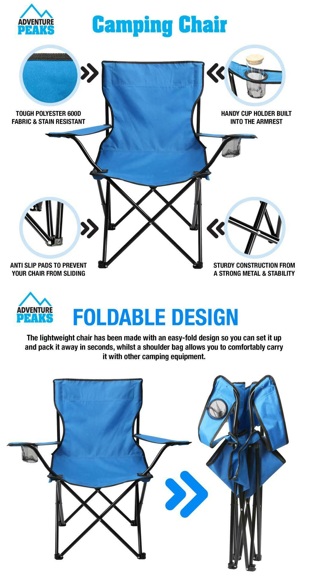 Folding Camping Chairs The lightweight chair made with an easy-fold design Picnic gift gardens garden parties garden games for folds flat Folding FOLDER Foldable Fold-Flat fold festivals festival Euros chairs chair camps Camper camp beachs beaches Camping, Fishing, BBQ, Beach, Garden, Picnics or even Hiking