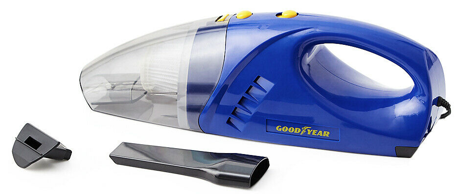 Goodyear 60W 12v Wet and Dry Car Vacuum Cleaner pick up all sorts of debris and even liquids Bagless, no changing bags Wet vacuums Long In-Car Filtered filter's filter Cyclone Cord clean cleaning cleaners clean carwashes carwash cars caravans caravan car wash car seats car seat car organiser car maintenance car accessories