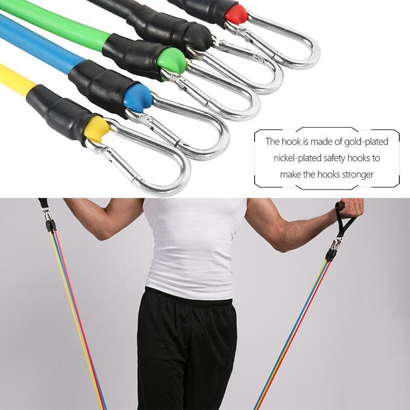 Home Fitness Resistance Bands Set 3-pack resealable pouch and matching carabiner ideal alternative to working out with weights workout work out work strengthen strength Set's Set of 3 set Play Set Medium Long Light Heavy health gymwear gyms gymgear gym fitness Extra Wide band's arm bands arm band
