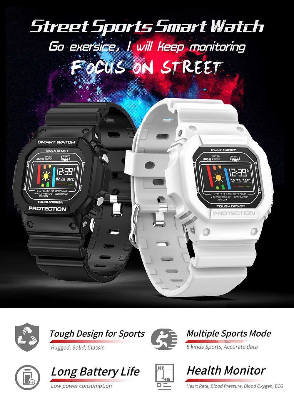Microwear X12 Smartwatch A trendy hip retro, cool, fashionable, popular with the millennial youth Shock 3 resistance X12 waterproof watches watch trackers tracker sports sport smartwatches smart rate pressure PPG pedometers pedometer Monitors Monitor Ip68 heartrate heart rate Heart health gym fitness tracker ECG bracelets bracelet