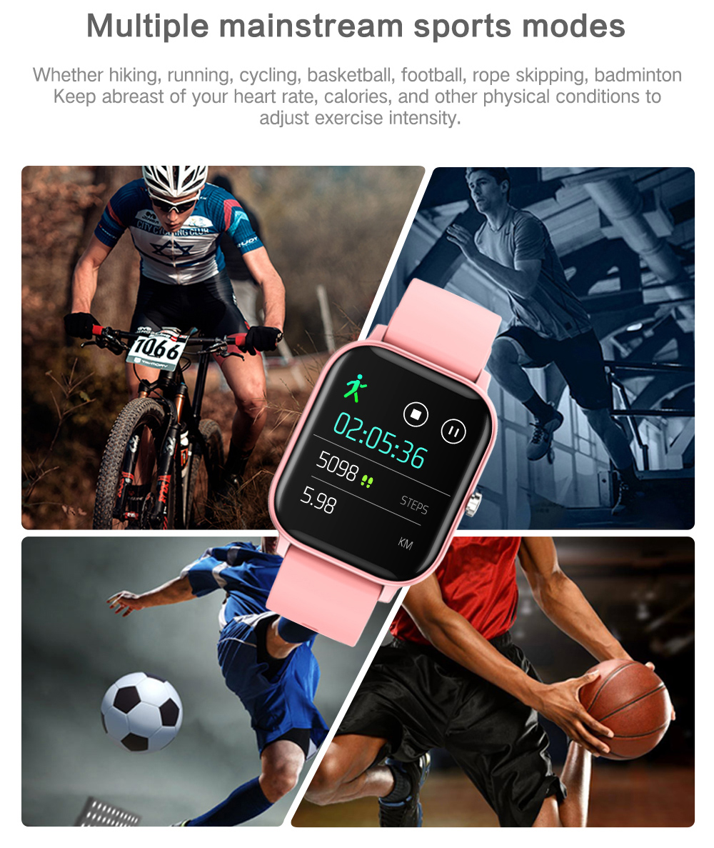 P8 Smart Watch The latest generation capacitive touch screen Women's womens women watches touchscreen smartwatches Smartwatch smartphones smartphone smart phone sleep Pressure P8 Monitors Monitoring Men's mens Men Inch heart rate monitor GTS Full For fitness tracker COLMI blood pressure oxygen flow circulation 1.4
