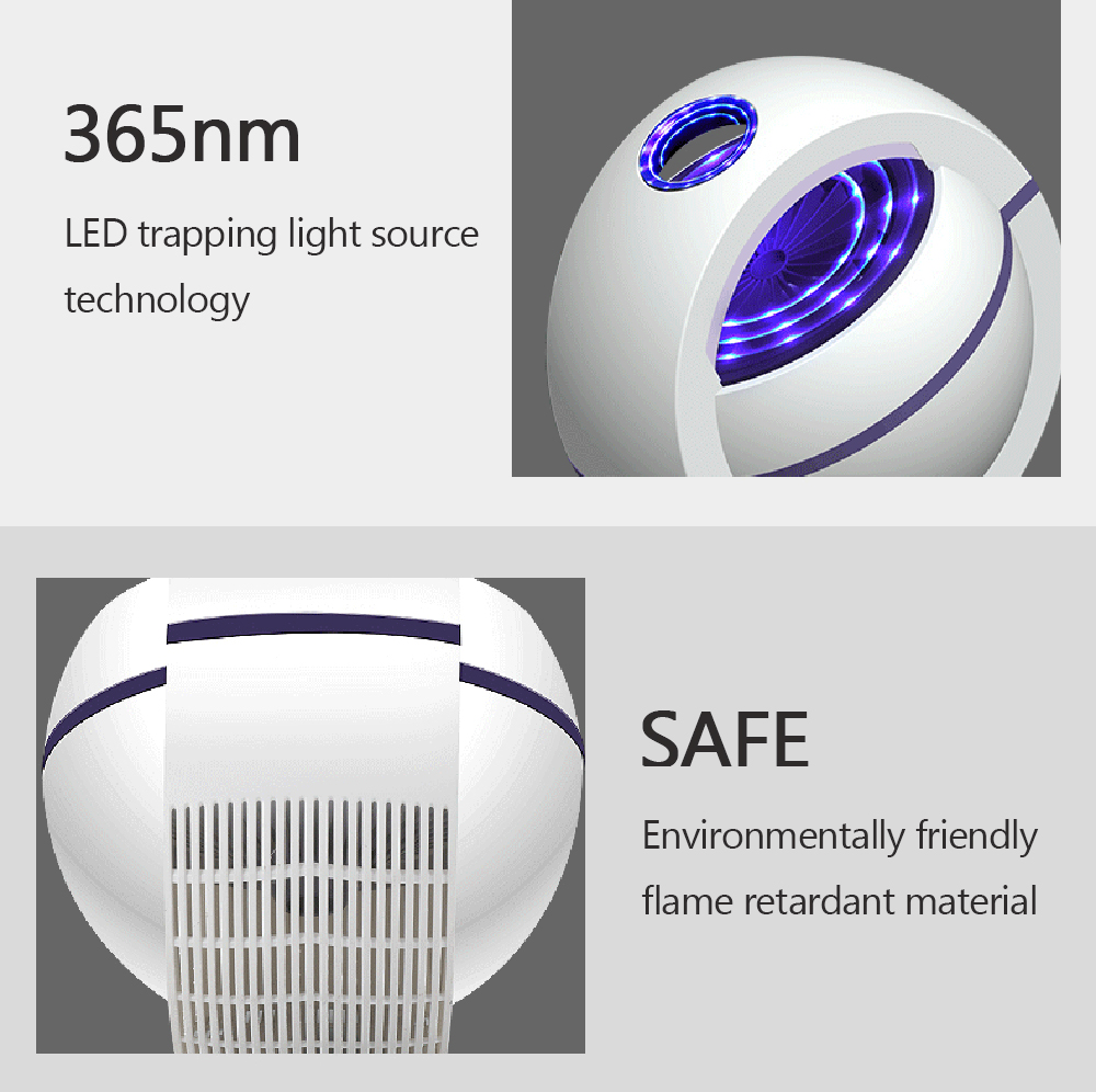 Photocatalytic Mosquito Repellent Lamp Through bionic technology the lamp imitates the human body to lure mosquitoes in before zapping USB traps Trap Repeller repellant Powered pest repeller pest killer mosquitos lights Light lamps kills Killers Killer kill insects insect Home Free for flys fly trap electric degree Anti 360
