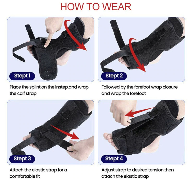 Plantar Fasciitis Great Night Foot Splint designed to keep foot stretched, firm and neutral position to alleviate painful symptoms tendonitis supports supportive support Stabilizer Stabiliser splints pain relief Orthosis nights night time Great footwear footcare foot soles flat feet Drop dorsiflexion Braces Brace bone spurs arches arch Adjustable Achilles