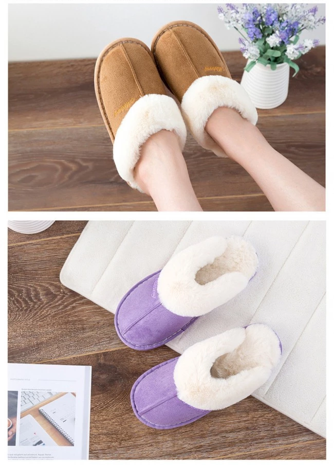 Women's Warm Mule Slippers feet warm comfortable style Include slip-resistant soles slip-on design is easy to wear real suede leather outer's, a plush faux fur lining Amazingly soft comfortable women womans woman warmth warming warm Slipper's Slipper shoes shoe mums mothers mother Luxury Lady Ladies Home girls girl gift feet comfort