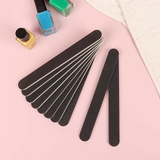 10-Pack of Black Emery Board Nail Files Get a Salon Pro double sided with a medium fine abrasive grit Women's womens women womans woman up ten salon packs pack of nails nail makeup make-up make Lady ladies healthcare health girls girl Filling Files File Emery boards Board Black 10-Pack