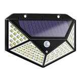100 LED Motion Sensor Solar Light Light secure your outdoor space with stand Weatherproof weather waterproof triggers super summer space solarpowered solar-powered solar panel solar shine sensor secure protection outdoors outdoor motion sensor motion detectors motion detector Motion light LED lamp illuminate house Home garden bright