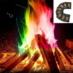 10 Sachets of Rainbow Dust Bonfire Create a magical campfire experience with these rainbow dust bonfire sachets Ten Sachets sachet potion of Magical joy hot harry potter flames flame firewood fires fire evening Dust duct colours Colouring colourful Coloured Colour-Changing Colour Colors colorful color chimney camping campfire camp Bonfires bonfire 10
